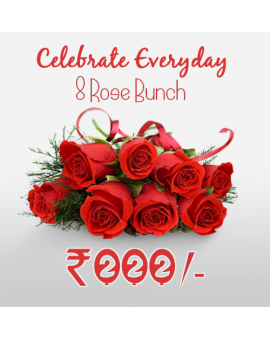 8 Roses Bunch - Celebration