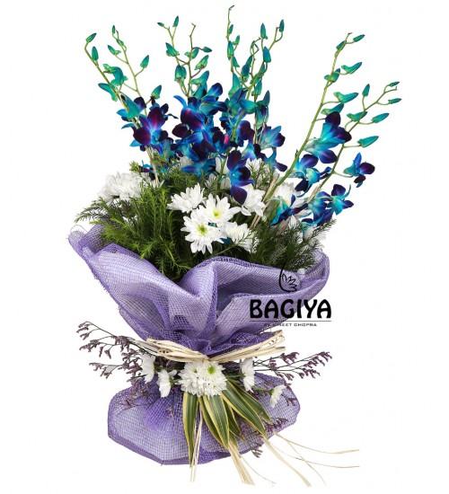10 BLUE ORCHIDS BUNCH